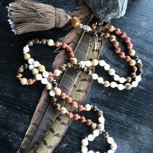 Jewelry - Patient Roots Mala Necklace Handmade Jewelry